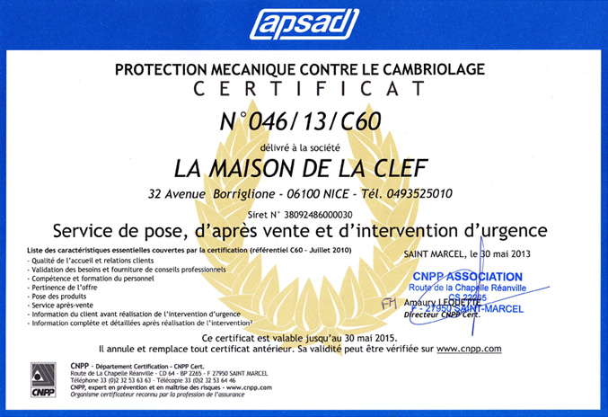 certification cnpp apsad