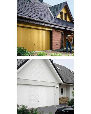 Porte de garage basculante h rmann berry df 98 la maison for Alarme porte de garage basculante